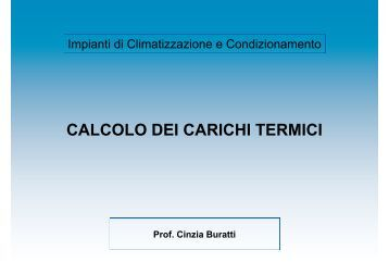 CALCOLO DEI CARICHI TERMICI - CIRIAF