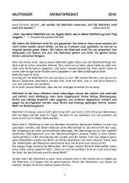 Mai 2010 - Evangelisch reformierte Kirchgemeinde Muttenz