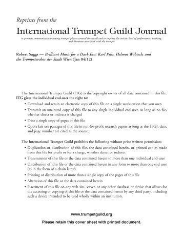 Karl Pilss - International Trumpet Guild