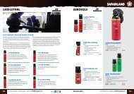 SAFARILAND LESS LETHAL AEROSOLS - Chief Supply