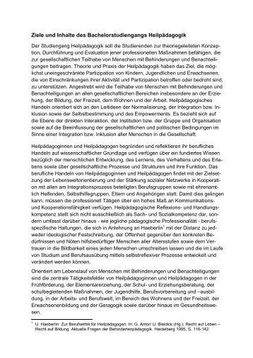 Ziele und Inhalte des Studiums - Hochschule Hannover