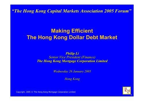 Presentation by Philip Li - The Hong Kong Capital Markets Association