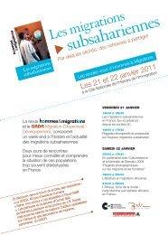 Flyer à télécharger pour diffusion lieux publics - Hommes et Migrations
