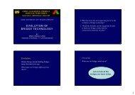 EVOLUTION OF BRIDGE TECHNOLOGY - IABSE E - Learning