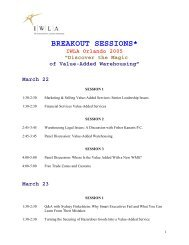 BREAKOUT SESSIONS* - IWLA.com