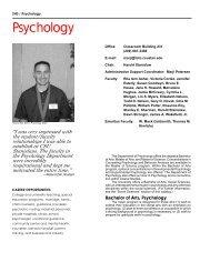 Psychology and Child Development - CSU Stanislaus