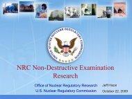 NRC Non-Destructive Examination Research