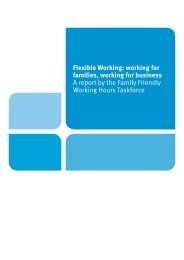 Flexible Working: working for families, working for business