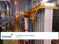Corporate presentation October 2011 - Severstal