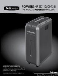 POWERSHRED® 125Ci/125i 125Ci/125i - Fellowes