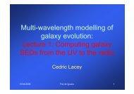 M lti l th d lli f Multi-wavelength modelling of galaxy evolution ...