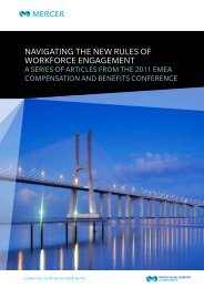 A SERIES OF ARTICLES FRoM THE 2011 EMEA CoMPENSATIoN ...