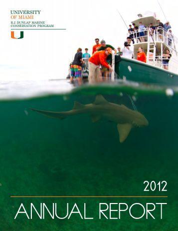 2012 AnnuAl RepoRt - RJ Dunlap Marine Conservation Program