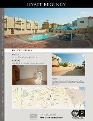 HYATT REGENCY PROPERTY DETAILS - Al Asmakh Real Estate