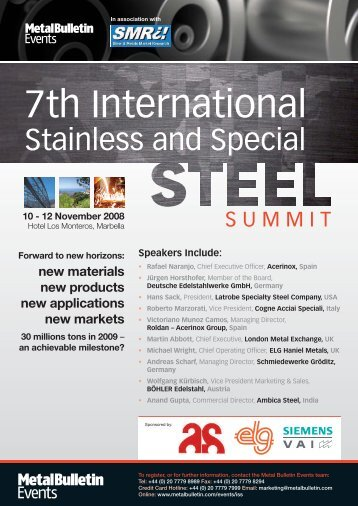 4250 Steels brochure - S.A.M.A. spa