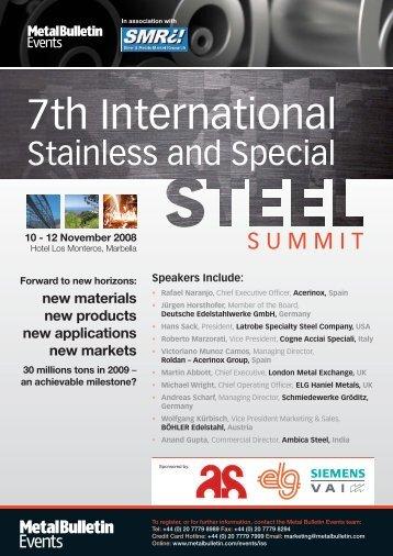 4250 Steels brochure - S.A.M.A. spa