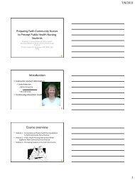 Module 1 PowerPoint handout - Bethel University