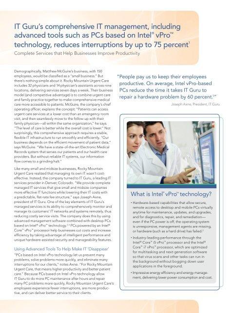Rocky Mountain Urgent Care Intel Msp