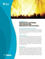 INNOvaTIve SOfTware fOr DevelOPING ... - NetBeans Wiki