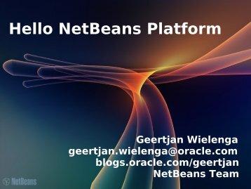 Hello NetBeans Platform