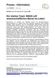 2. Ein starkes Team: BAKA ruft wissenschaftlichen Beirat