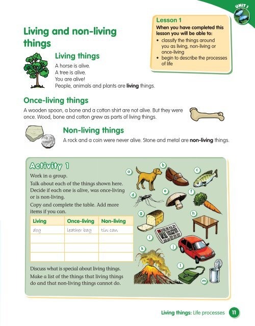 Living And Non Living Things Macmillan