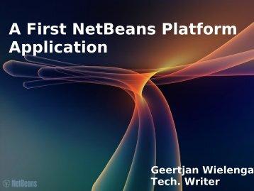 A First NetBeans Platform Application - NetBeans Wiki