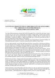 Comunicato n. 30 bis - 2010 - Agenzia Interregionale per il fiume Po