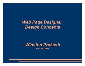 Web Page Designer Design Concepts Winston ... - NetBeans Wiki