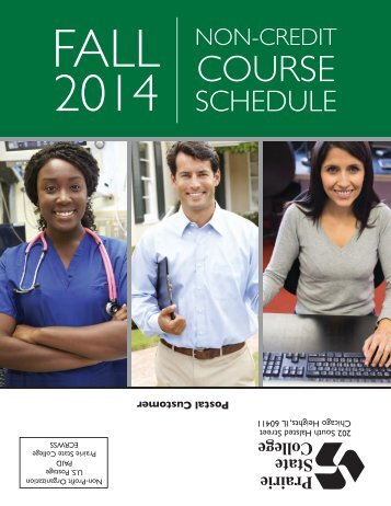 Fall 2013 Non-Credit Courses - Prairie State College