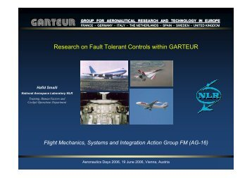 Research on Fault Tolerant Controls within GRATEUR - Aeronautics ...