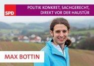 MAX BOTTIN - Politik konkret, sachgerecht, direkt vor der Haustür