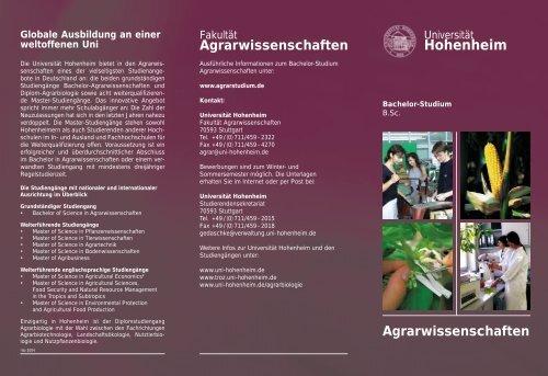 Hohenheim - STUDIUM