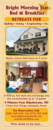 Quilting Retreat - Amish Country