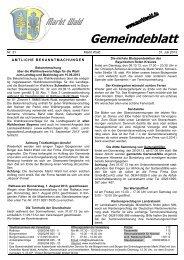 Download (PDF - 237 KB) - Marktgemeinde Markt Wald