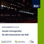 Gender-Vortragsreihe - RUB Research School - Ruhr-Universität ...