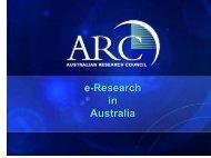 e-Research in Australia e-Research in Australia - Seegrid.csiro.au