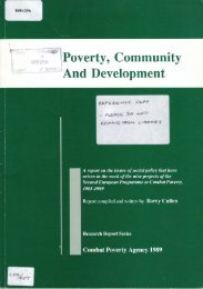 Poverty, Community & Development: a report on the issues of social ...