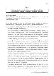 Besoins qualitatifs en acides aminés en nutrition ... - Danone Institute
