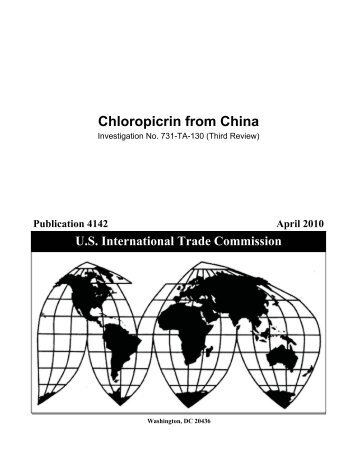 Chloropicrin from China - USITC