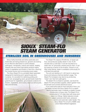 Greenhouse Application flyer - Sioux Steam Cleaner Corporation