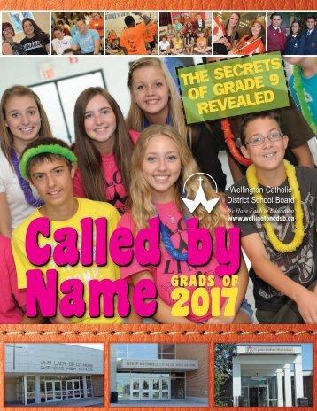 Called By Name 2013-2014 - Wellington Catholic