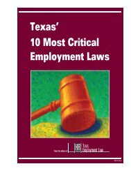 Texas' 10 Most Critical Employment Laws