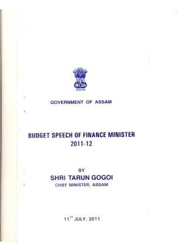 Budget Speech of Finance Minister 2011-12.pdf - Assam Online Portal