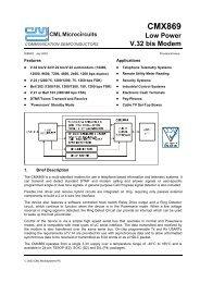 CMX869 V.32 bis Modem IC