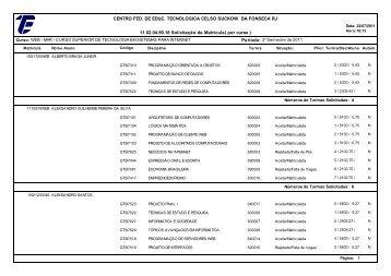 11.02.04.99.18 Solicitação de Matrícula( por curso ) CENTRO FED ...