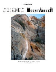 June 2006 - Arizona Mountaineering Club