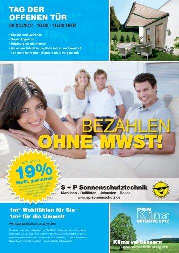 19% 19% 19% - S+P Sonnenschutztechnik