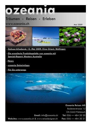 News Mai 2009 - Ozeania Reisen