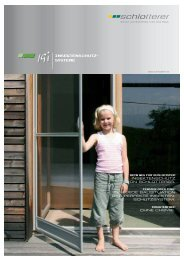 Insektenschutz- systeme - Strussnig